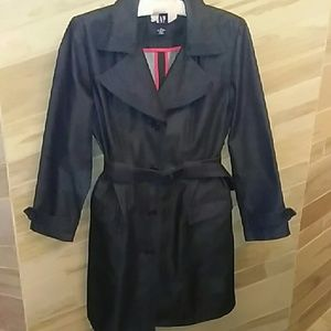GAP size M belted denim trench